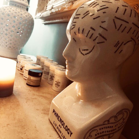 Phrenology Head Green Room Therapies